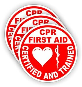 Cpr First Aid Hard Hat Stickers Emt Paramedic Firefighter Rescue Helmet Decals