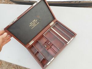 1917 George Tiemann Co Opticians Oculist Optical Eye Testing Set Wood Box