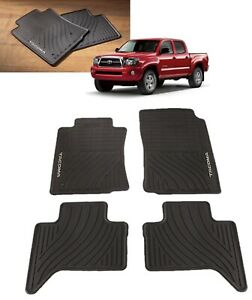 2005 2011 Tacoma Floor Mats All Weather Mats Double Cab Toyota Pt908 35002 02