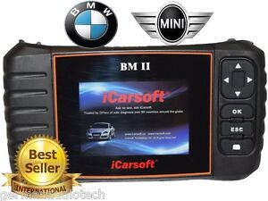 Bmw Mini Obd2 Diagnostic Scanner Tool Oil Erase Fault Codes Best Icarsoft Bm Ii