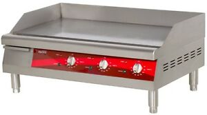 Countertop Electric Griddle 30 Restaurant Kitchen Commercial Flat Top Grill