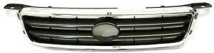 New Black Chrome Grille For 2000 2001 Toyota Camry To1200225 53111aa020