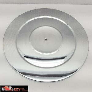 14 Chrome Air Cleaner Lid Top Ribbed Style Sbc Bbc Ford Mopar 350 454