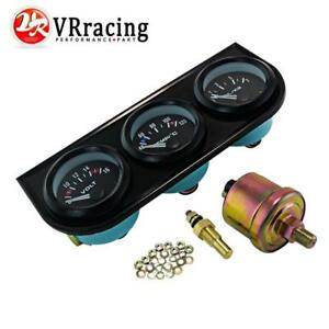 3in1 Car Auto Triple Gauge Kit Voltmeter Water Temp Oil Pressure Meter 52mm