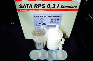 Sata Jet Hvlp Rp Spray Paint Gun Rps Cups 0 3liter 8oz 5cups Waterborne