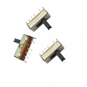 50pcs Ss13d07 Slide Switch 1p3t 4pin W Handle 6mm 3 Position F Diy Electronic