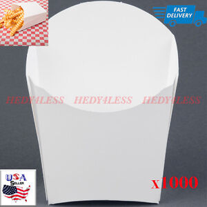 1000 Case White Paper French Fry Scoop Cups New Fast Shipping