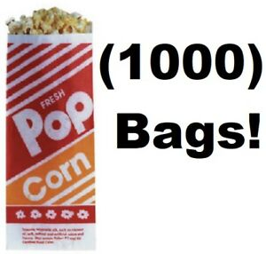 1000 Count Gold Medal 2053 1 Oz 3 3 1 2 X 2 1 4 X 8 Popcorn Bags