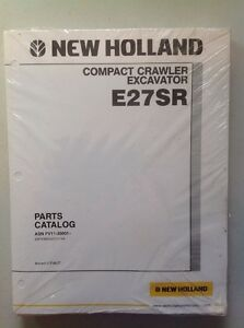 New Holland E27sr Compact Crawler Excavator Parts Catalog