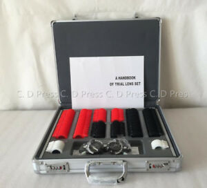 Us 158 Pcs Plastic Rim Optical Trial Lens Set Aluminium Case 1 Pc Trial Frame