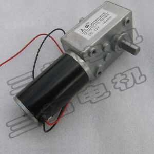 1pcs 12v 24v High Torque Worm Gear Reducer Motor Double shaft Gw31zy For Robot