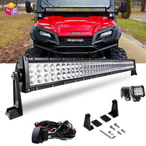40 42 Straight Led Light Bar Combo Beam Fit Yamaha Rhino Viking Honda Pioneer