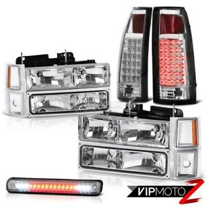 Chevy Silverado Ck 1500 2500 10pc Corner Headlight Led Tail Light 3rd Brake Lamp