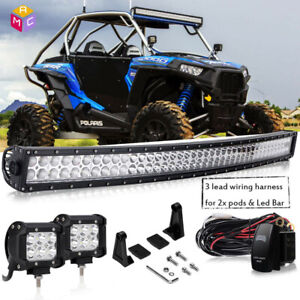 42 Curved Led Light Bar Polaris Rzr Xp900 800 Rzr4 Xp1000 Ranger 900 800 570x