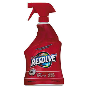 Professional Resolve Carpet Cleaner 32oz Spray Bottles 12 carton