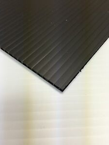 4mm Black 36 In X 24 In 10 Pack Corrugated Plastic Coroplast Sheets Sign
