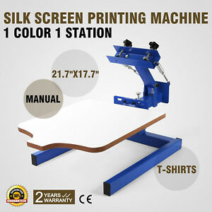 1 Color 1 Station Silk Screen Printing Machine Manual Pressing Glass T shirt