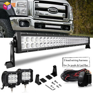 30 Inch 180w Projector Straight Slim Led Light Bar Fit Rzr can Am polaris rhino