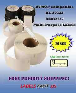 Dymo 24 Rolls 30333 Twin Turbo 450 Duo 400 White Return With 4xl Compatible