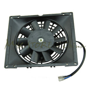 12v Radiator Thermo Electric Cooling Fan 200 250 300 Cc Quad Dirt Bike Atv Buggy