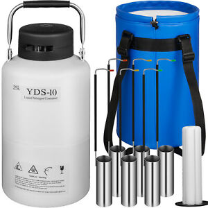 10l Liquid Nitrogen Tank Cryogenic Container Ln2 Dewar 6 Pcs Pails lock Cover