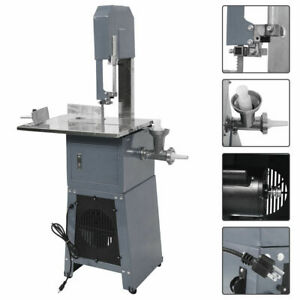 Electric 550w Stand Up Butcher Meat Band Saw Grinder Processor Sausage Gray