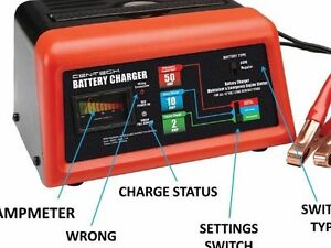 10 2 50 Amp 12v Battery Charger Jump Engine Starter Car truck riding Mower boat