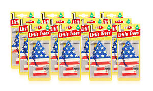 Little Trees Hanging Car And Home Air Freshener Vanilla Pride Scent pack Of 12