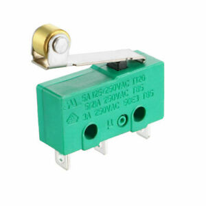 Roller Lever Hinge Limit Switch Micro Spdt 3a 250vac 5a 125vdc 12v Green Mini