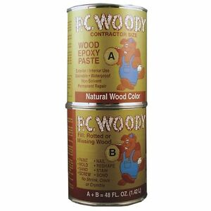Pc Products Pc woody Two part Wood Repair Epoxy Paste 48 Oz In Two Cans Tan