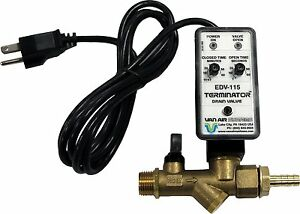 Van Air Systems 39 10507 Automatic Tank Drain For Air Compressors 115v Ac Dual