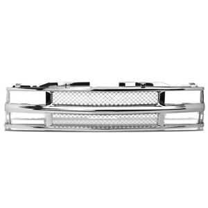 Fit 94 00 Chevy C10 C K Tahoe Blazer Front Bumper Chrome Abs Meshed Grille Guard