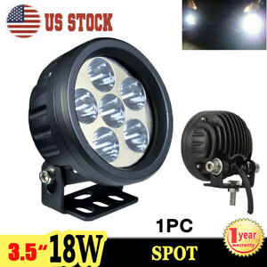 3 5 Inch 18w Cree Led Work Light Spot Round Offroad Fog Driving 4x4 Truck Suv
