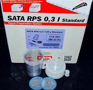 Sata Jet Hvlp Rp Spray Paint Gun Rps Cups 0 3liter 8oz 2cups Waterborn