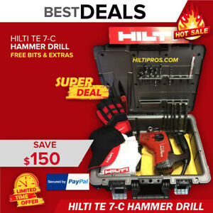 Hilti Te 7 c Hammer Drill Preowned Free Stong Tool Case Fast Shipping