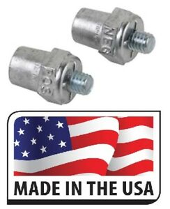 2 Pc Universal Side Mount Battery Terminal Post Positive Negative Solid Lead