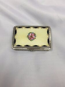 Sterling And Enamel Cigarette Case C1900