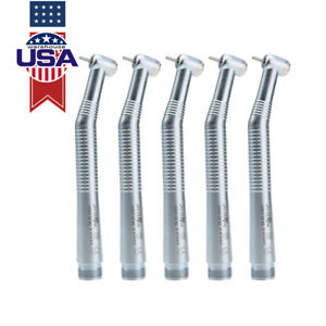 5 X Nsk Style Dental Pana Max Air High Speed Handpiece Turbine 2 Hole Push Type