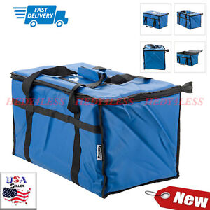 23 X 13 X 15 Blue Insulated Nylon Food Delivery Bag Pan Carrier Fast Ship