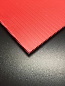 4mm Red 48 X 24 12 Pack Corrugated Plastic Coroplast Sheets Sign