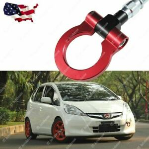 Sports Red Track Racing Style Aluminum Tow Hook For Honda Fit Jazz 2015 2018