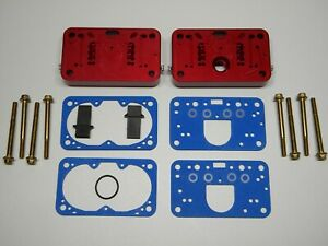 Holley Qft Aed Ccs 650 Cfm Pro Street Billet Metering Block Kit Red