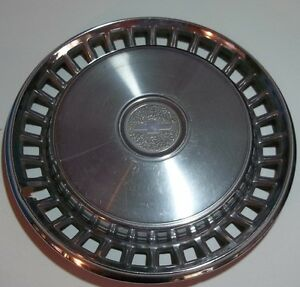 1978 1979 Chevrolet Impala 15 Inch Stainless Steel Hub Cap Original Oem Usa D