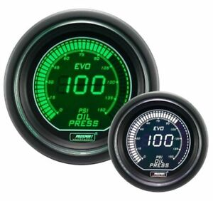 Prosport 52mm Evo Series Digital Green White Led Oil Pressure Gauge Psi