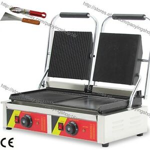 Heavy Duty Non stick Electric Contact Grill Steak Panini Sandwich Press Maker