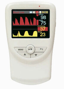 Handheld Veterinary Co2 And Respiratory Monitor With Accessories 2 8 Lcd
