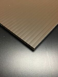 4mm Brown 24 X 36 4 Pack Corrugated Plastic Coroplast Sheets Sign