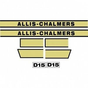 Acd15 New Hood Decal Set Ac For Allis Chalmers D15 Tractor