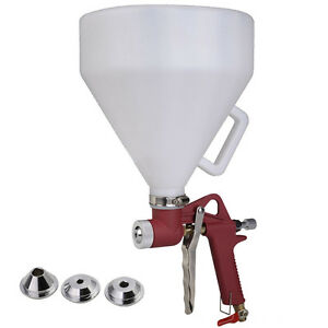 Ceiling Wall Texture Air Hopper Spray Gun Paint Drywall Painting 3 Nozzles New