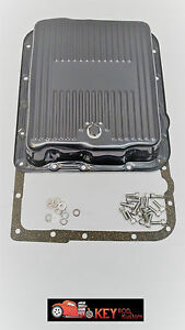700r4 4l60e Black Transmission Pan With Gasket Bolts Stock Depth Gm Automatic